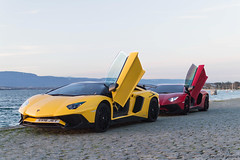 By the Lake (Beyond Speed) Tags: lamborghini aventador sv superveloce roadster supercar supercars car cars carspotting nikon v12 red yellow geneva geneva2017 switzerland combo