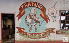 Mural Detail - Trading Post (Ridgecrest Photo) Tags: newmexico abandonedbuildings losojos unitedstates us