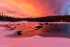 Spring in the Rockies (Pulver41) Tags: redrocklake brainardlakerecreationalarea ward colorado co spring rockymountains water lake reflection landscape sunrise snow
