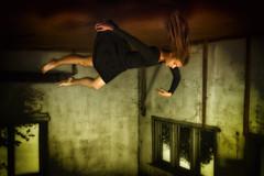 Dream (salas-3) Tags: levitation girl beautiful creation art fineart beauty wall wallart dress black colors photography dream soft