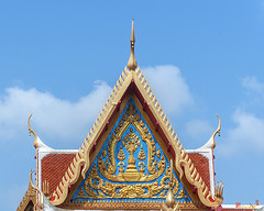Wat Bangphratoonnok Phra Wihan Gable (DTHB1672) วัดบางประทุนนอก หน้าจั่ว พระวิหาร