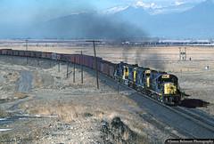 Classic Alcos on the March to Martin (jamesbelmont) Tags: alco utah train railroad coal hopper