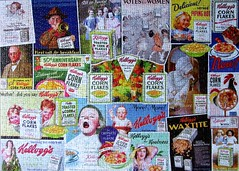 Kellogg's Corn Flakes Advertising (pefkosmad) Tags: falcon jigsaw puzzle 1000pieces used complete secondhand advertising kelloggs cereal breakfast food cornflakes vintage timelesscollection leisure hobby pastime boxes advert advertisement usa