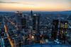 Frankfurt - Mainhatten Skyline (WaleriBykowski) Tags: 2017 architektur frankfurt mainhatten deutschland main dämmerung dusk sonnenuntergang blaue stunde maintower germany skyline sky himmel