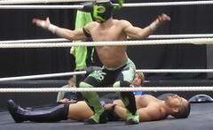 Christian Archer vs El Ligero (jacquemart) Tags: proevolutionwrestling battleofgloucesteriii christianarcher elligero wrestler wrestling lutte grapple