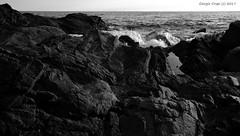 The slow work of the sea (- Crupi Giorgio (official)) Tags: italy liguria genova bogliasco blackwhite bw monochrome seascape sea reef rock canon canoneos7d sigma sigma1020mm landscape