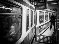 subway selfie (Sandy...J) Tags: olympus urban underground streetphotography subway selfie monochrom blackwhite bw germany munich tunnel white black mirror