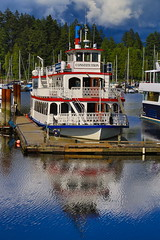 Happy Victoria and Aboriginal day (Eyesplash - There is a change in the air.) Tags: cruise holiday reflection boat wooden dock ship tourists slip tribute ripples paddlewheel moored happvictoriaday happyaboriginalday