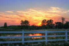 White picket fence (Notkalvin) Tags: sunset fence michigan whitepicketfence canton naturesbeauty mikekline michaelkline notkalvin takingpictureswithmywife notkalvinphotography