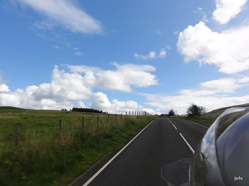 201-Crossing the Trossachs National Pass, Scotland....