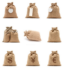Burlap sack (imagesstock) Tags: brown thread vertical retail closeup bag stuffed beige closed euro linen antique nobody full canvas container business whitebackground textile achievement blank pouch transportation dollar string merchandise studioshot copyspace woven savings sack fiber tiedup ideas success abundance investment currency isolated wealth crowded oldfashioned burlap finance usdollar concepts sackcloth renminbi moneybag rmb   ricebag coffeebag  currencysymbol drawstringbag sandybrown burlapsack     isolatedonwhite      tiedknot