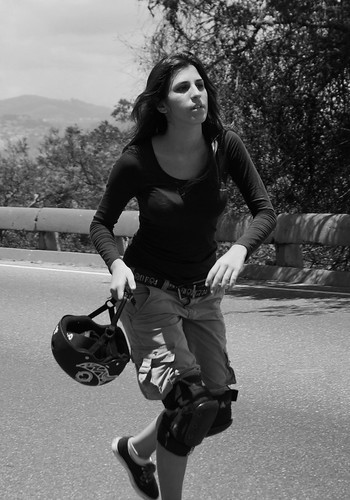 Skateboarding Sunday Girl