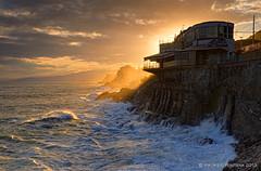 Sunset light (Maurizio Fontana) Tags: light sunset sea italy water nikon italia tramonto mare liguria genoa genova acqua luce nervi d800