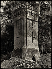 2013 147 (Nigel Bewley) Tags: uk england architecture blackwhite seaside gothic watertower victorian may dorset 365 everyday bournemouth folly artphotography pleasuregardens creativephotography yearinpictures victorianengineering uppergardens unlimitedphotos may2013 canong1x 2013yip