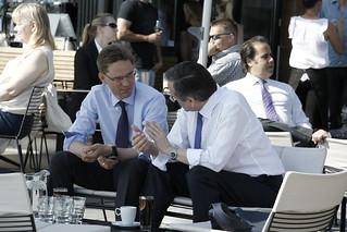 PM Katainen and PM Samaras in Helsinki 6 June 2013