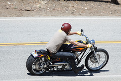 Custom Bike on Mulholland (Have Fun SVO) Tags: street bike rock store highway snake helmet motorcycle rider mulholland spotting
