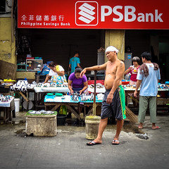 Waiting (MastaBaba) Tags: street man naked waiting philippines manila psb 20130602