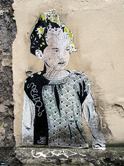 Pasted paper by Don Mateo [Lyon, France] (biphop) Tags: streetart france pasteup collage paper europe lyon wheatpaste pasted don mateo croixrousse vaise wheatpaper