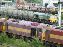 66524 60093 60004 Toton 08/06/2013 (37686) Tags: 5 66 class type tug 60 midlands ews toton railfreight dbschenker