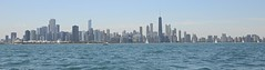 Clear Day in Chicago (virtualphotographers) Tags: city chicago skyline skyscraper sailing cityscape lakemichigan lakeshore lakefront virtualphotographers