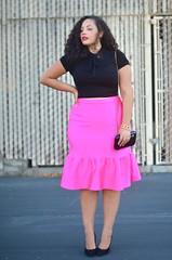 Pink (GirlWithCurves) Tags: curvy curlyhair plussizefashion girlwithcurves taneshaawasthi