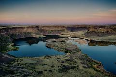 Dry Falls Lake (NW Vagabond) Tags: lake sunrise dawn washington day state clear coulee eastern 2012 dryfalls