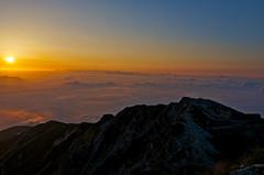 An orange sea (Yoshia-Y) Tags: sunrise day cloudy happoone japannorthalps mtkaramatsu