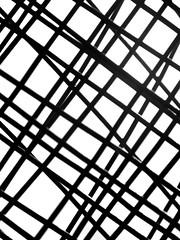 Accustomed crossness (Claire Wroe) Tags: bridge sky blackandwhite bw white black west net monochrome metal fence grey mono cross mesh yorkshire gray line hebden