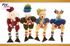 Bichinhos de Natal (FIT LASER - SURPREENDA-SE!!) Tags: 2 como natal de boneco flor artesanato noel neve laser fuxico fofo rena fit lazer fazer papai tecido bichinho idéia fitlaser