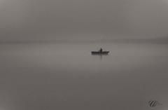Pcheur dans  la brume (Christian ;-)) Tags: bretagne paysages illeetvilaine feins etangduboulet