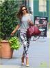 1846710989.jpg (jjcarpediem) Tags: usa newyork fulllength brunette bigsunglasses greyshirt mirandakerr redhandbag nudeheels floralprintpants blogmove