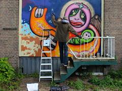 Work in progress - Boortorrie (oerendhard1) Tags: friends urban streetart art graffiti rotterdam zuid lastplak slinge boortorrie benneveld lastplakfriends