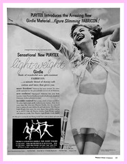 Playtex Fabricon! (epiclectic) Tags: 1955 vintage magazine october ad lingerie retro ephemera advertisement girdle lightweight whc playtex fabricon womanshomecompanion epiclectic imagenhancingbyepiclecticcom