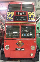 Tea For Two (NW54 LONDON) Tags: bus train steam londonunderground routemaster rt rm londontransport