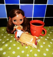 After a full day of baking yesterday... (Bebopgirl1969) Tags: coffee cookie biscuit blythe manuhealiiparadisegirl