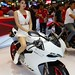 Ducati 899 Panigale with beautiful, sexy presenter at the 30th Thailand International Motor Expo 2013