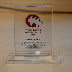 Got my trophy from Wikimedia UK today (Dave Wood Liverpool Images) Tags: wikipedia prize wikilovesmonuments