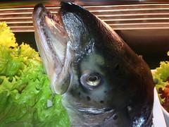 Fish Head (mikeeliza) Tags: city sea food fish sushi restaurant head lettuce manila seafood makati smorgasbord mikeeliza