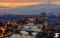 Paris (A.G. Photographe) Tags: bridge sunset paris france tower seine sunrise french nikon europe eiffeltower eiffel notredame cathdrale invalides toureiffel ag pont capitale nikkor pniche arcdetriomphe 70200 barge dri franais hdr lesinvalides parisian ladfense granderoue anto d800 champslyses trocadro quasimodo parisien toutparis antoxiii agphotographe
