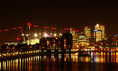 Royal Victoria Dock (*Insert_Coin*) Tags: longexposure london night january o2 docklands canarywharf royalvictoriadock 2014 silvertown