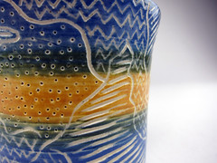 Zentangle Cup 2 (jacey1973) Tags: coffee mugs ceramics handmade cups pottery etsy stein hls stoneware hlsdesign