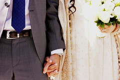 Pakistani - Egyptian Wedding // Registry - Bride & Groom (mysa kh) Tags: bridge flowers wedding pakistan woman man love asian groom belt hands hand married dress muslim islam egypt tie marriage jewellery suit nails egyptian service pakistani shaadi marry legal registry southasian