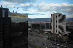 Barcelona Diptych (martinstelbrink) Tags: barcelona morning winter sunrise hotel spain hilton catalonia gr sonnenaufgang morgen ricoh ricohgr espania 10thfloor ricohgrv mygr avidadiagonal 10terstock
