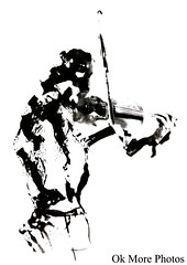 The Violin (Ok More Photos) Tags: portrait people blackandwhite bw musician music white playing black lines darkroom person photography shadows play band brush player musical photograph violin musica instrument brushes developed paintbrush violinist musique klezmer musicien violon violinista musico violoniste