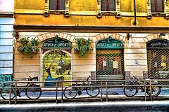 Graffiti (5) (Marco Trovò) Tags: italy graffiti italia milano case canon5d murales lombardia hdr palazzi biciclette zonatortona viasavona marcotrovò marcotrovo