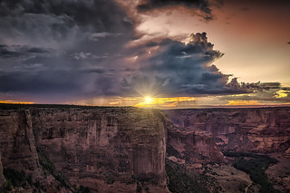 Canyon de Chelly Sunburst