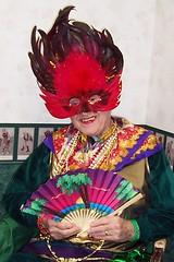 Mardi Gras Winner (snow41) Tags: 2002 people hat fun fan costume dad contest dressup scan winner mardigras