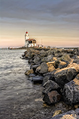 (angheloflores) Tags: sunset lighthouse holland color netherlands colors landscape paardvanmarken