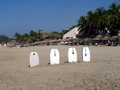 Boogie Boards (knightbefore_99) Tags: sea west beach mexico hotel coast sand pacific board mexican tropical boogie zihuatanejo ixtapa guerrero mygearandme