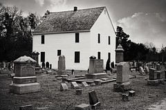 Head of the River Church (David Swift Photography) Tags: cemeteries film 35mm newjersey graveyards tombstone churches graves nikonfm2 davidswiftphotography vision:outdoor=0898
